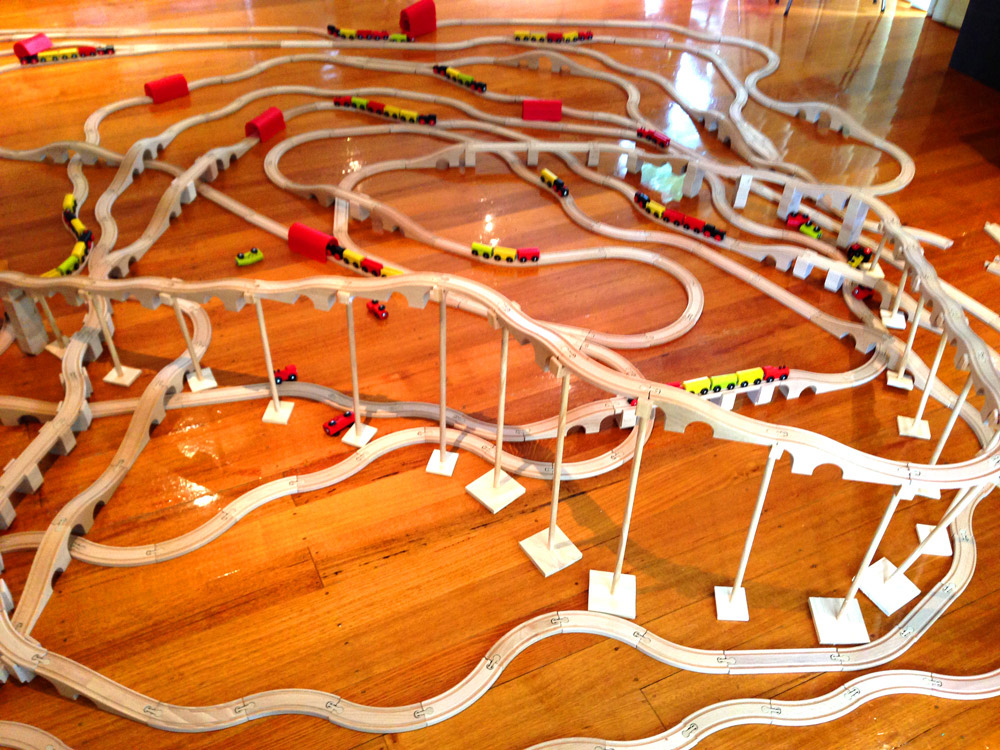 IKEA mountain train track