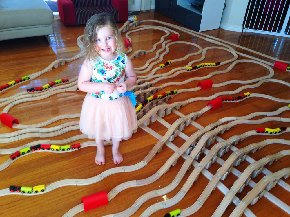 Building toy train bridges