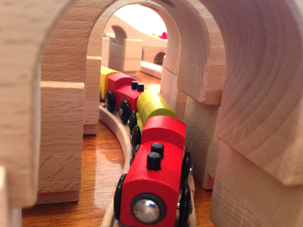 Toy train tunnel
