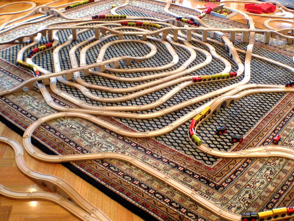Carpet train track