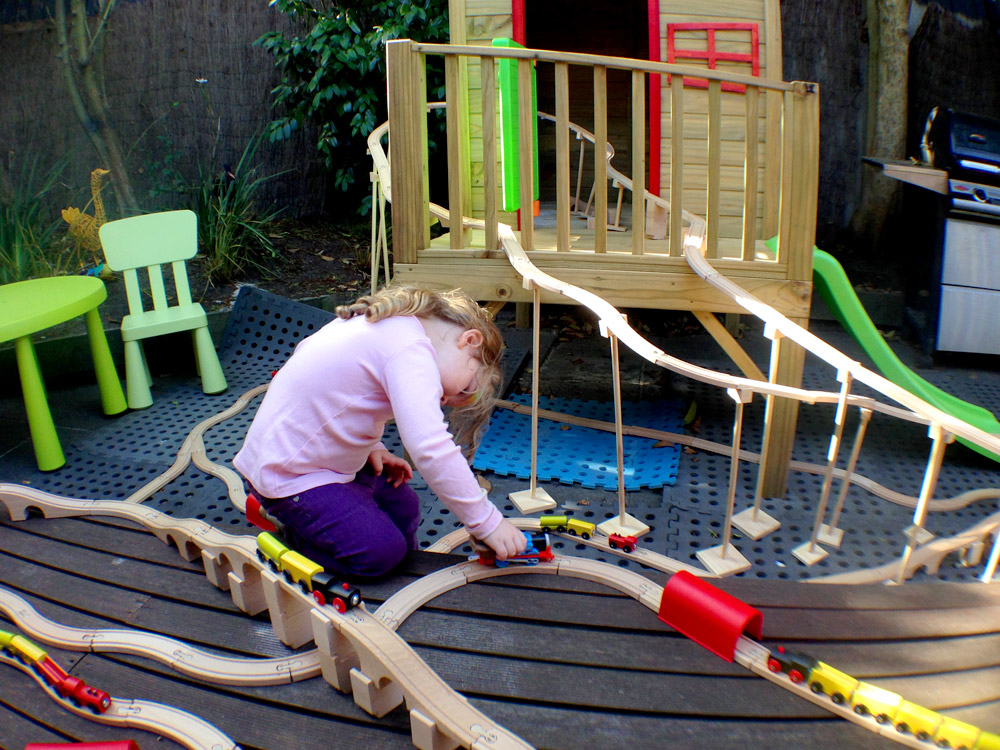 Week 28 outdoor train track