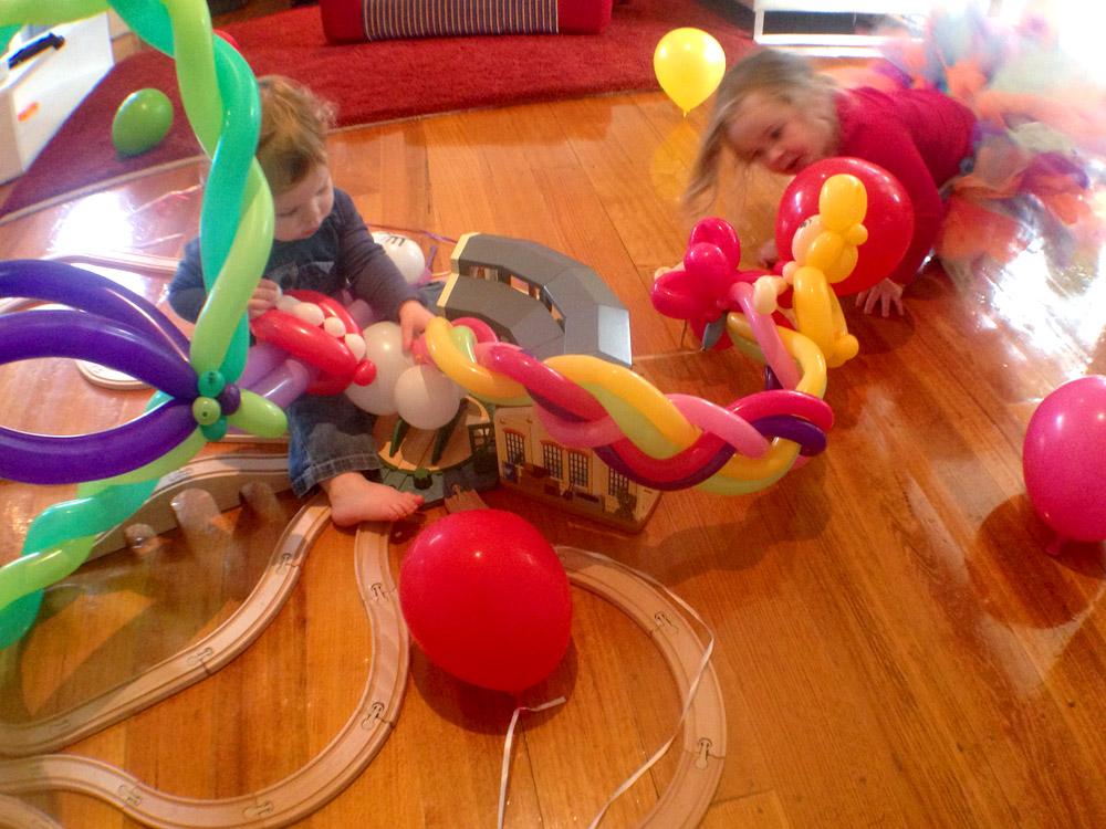 Keira's balloon train party