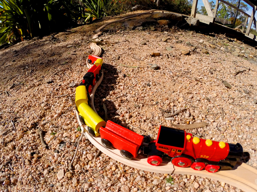 Outdoor train set