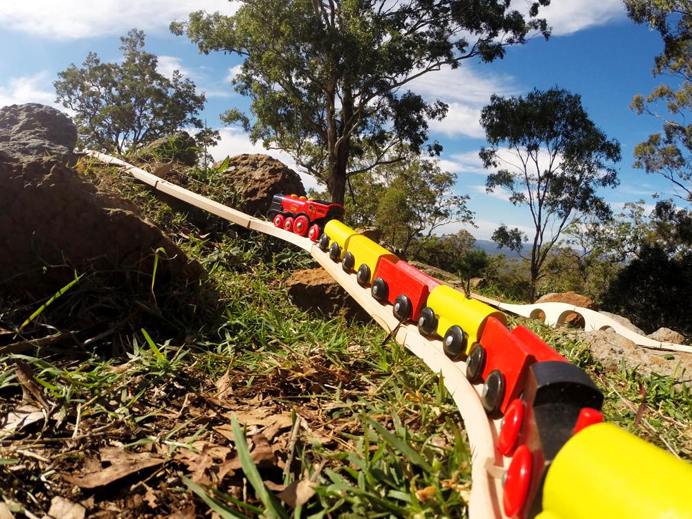 Uphill train climb