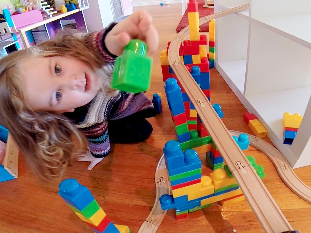 Let's play mega blok trains