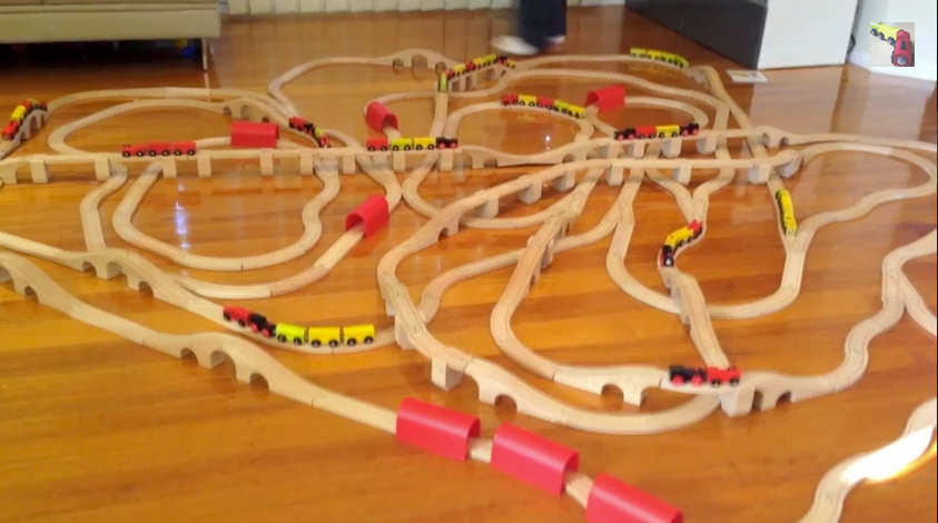 Our week 11 train set layout