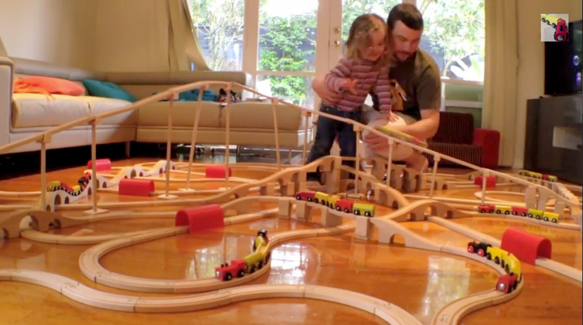 Our first big mountain train track