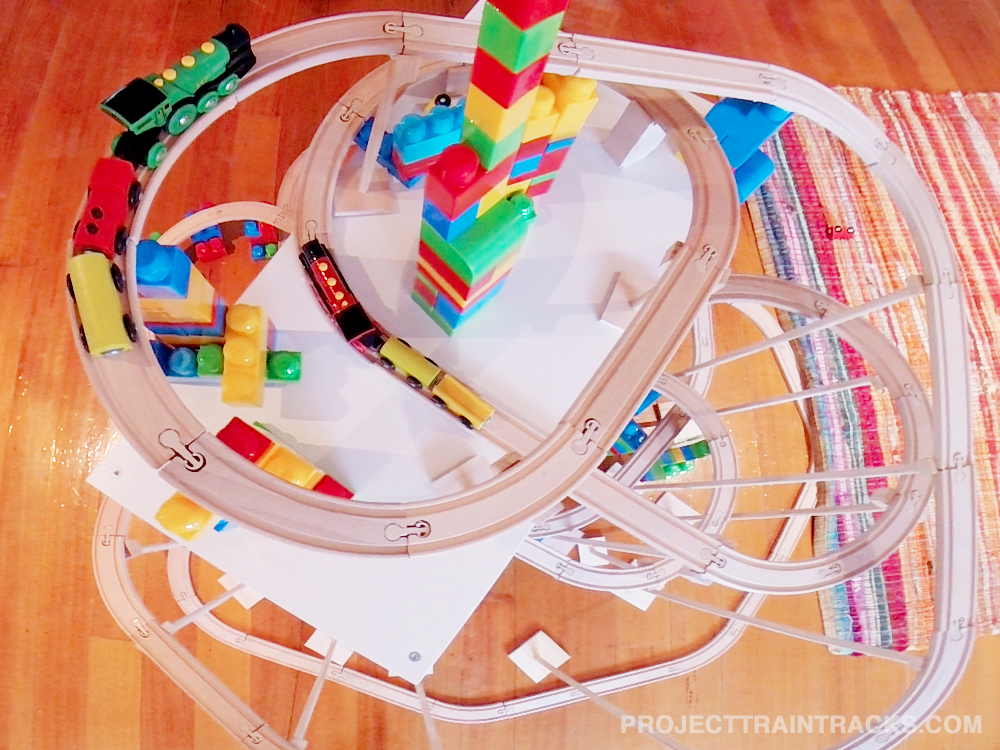 Top down train set layout for week 38