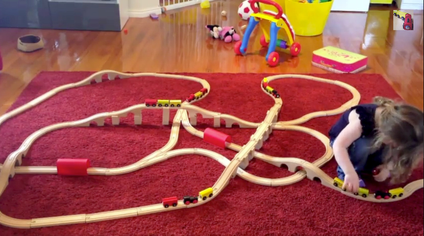 Keira loved this train set layout