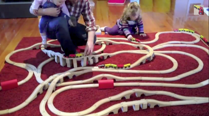 Lots of fun with this kids train set