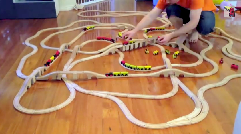 Our train sets are off the carpet! Bigger things to come!