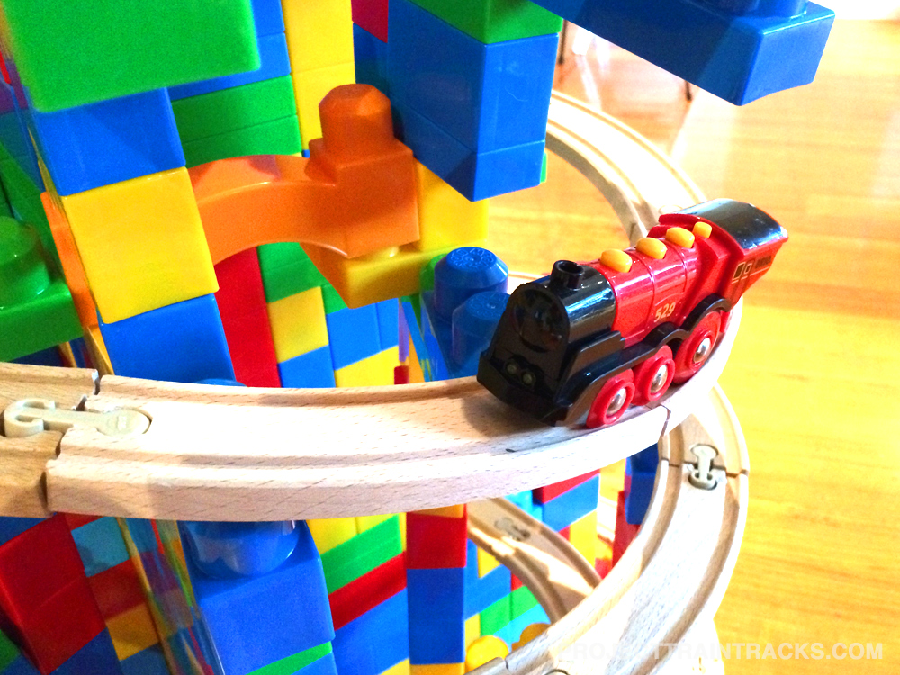 Brio train climbing mountain